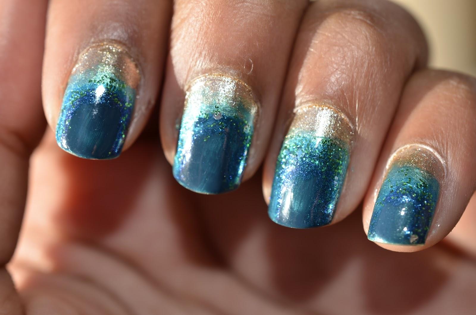 Gaborillaa: Manicure Monday: Ocean Nails