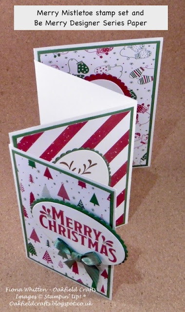 Merry Mistletoe, Be Merry, Christmas, Fun Fold, Stampin Up, Global Stampers