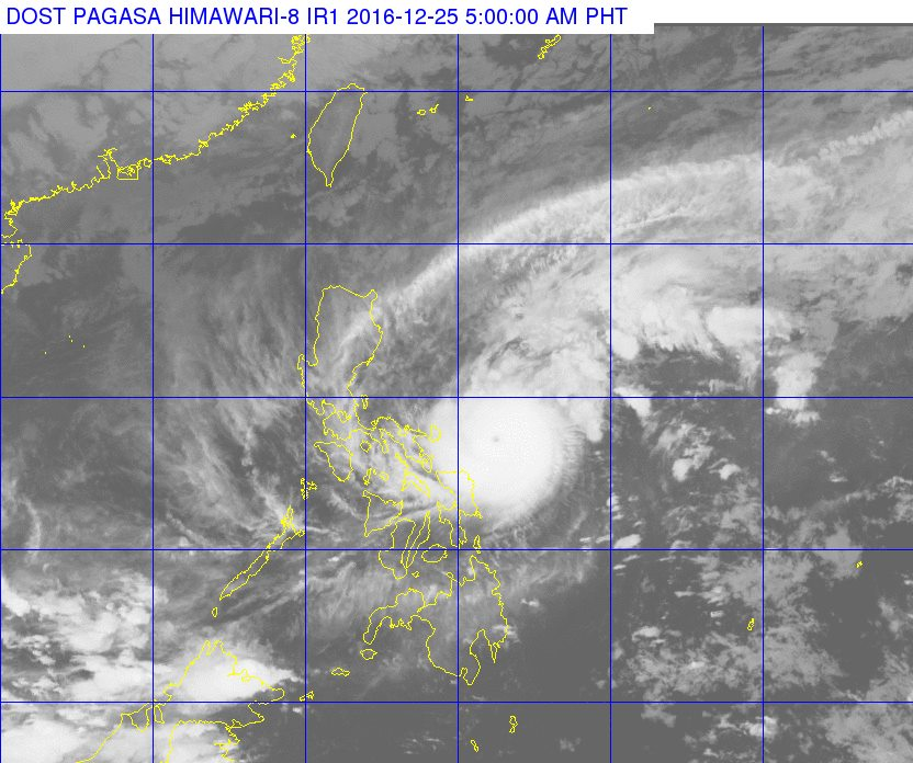 'Bagyong Nina' PAGASA weather update December 25, 2016