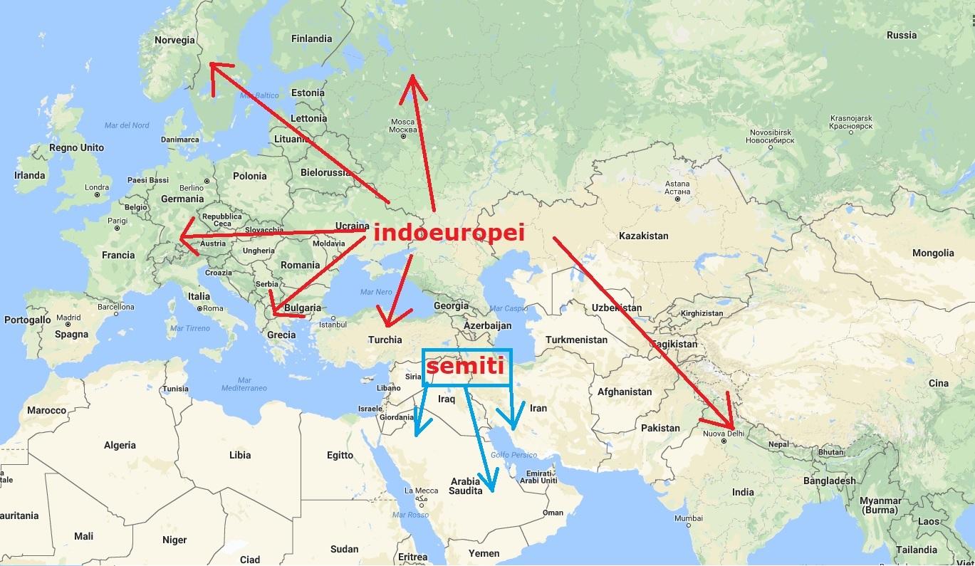 Cartina Asia Da Colorare.Indoeuropei E Semiti Le Migrazioni Dalla Preistoria Alla Storia