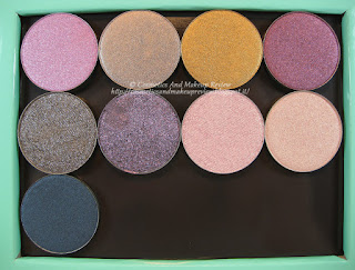 Mermaid Collection - refill ombretti - da sinistra a destra e dall'alto in basso: Calypso, Chemical Bond, Cleo, Juno Moon, Nereide, Selfish, Sensuelle, Sugar, Under Pressure