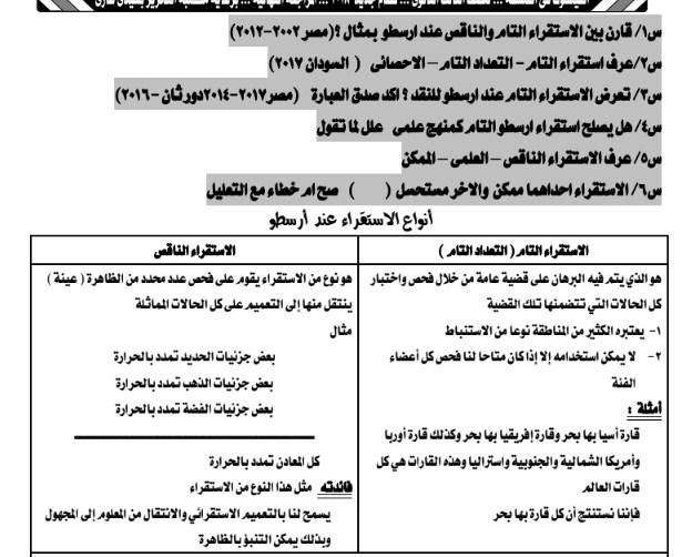المراجعه النهائيه في المنطق للصف الثالث الثانوى 2019