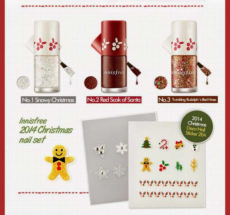 INNISFREE 2014 Christmas Nail Set