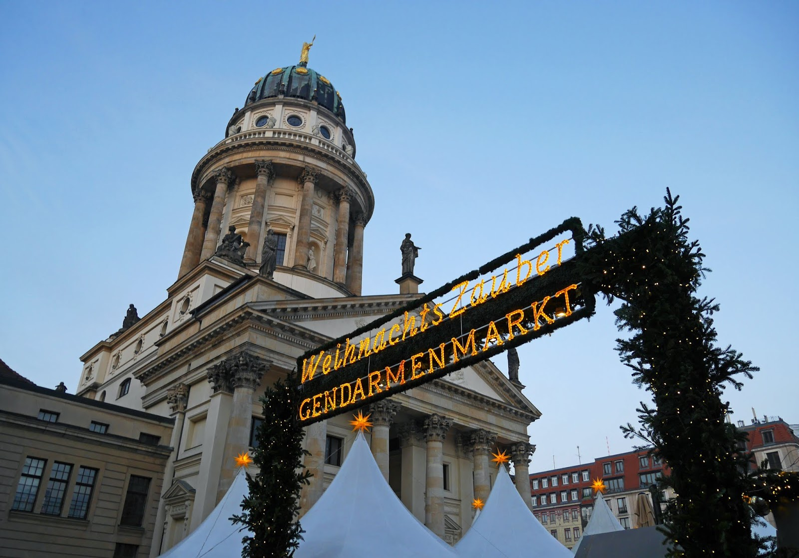 The Christmas Market at the Gendarmenmarkt, Berlin