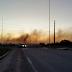 Incêndio prejudica visibilidade no acesso ao aeroporto