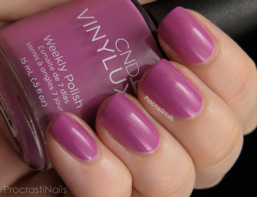 Swatch of Crushed Rose from the CND Vinylux Garden Muse Collection