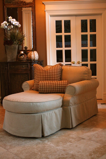 Custom Slipcovers By Shelley Herringbone Chaise Lounge
