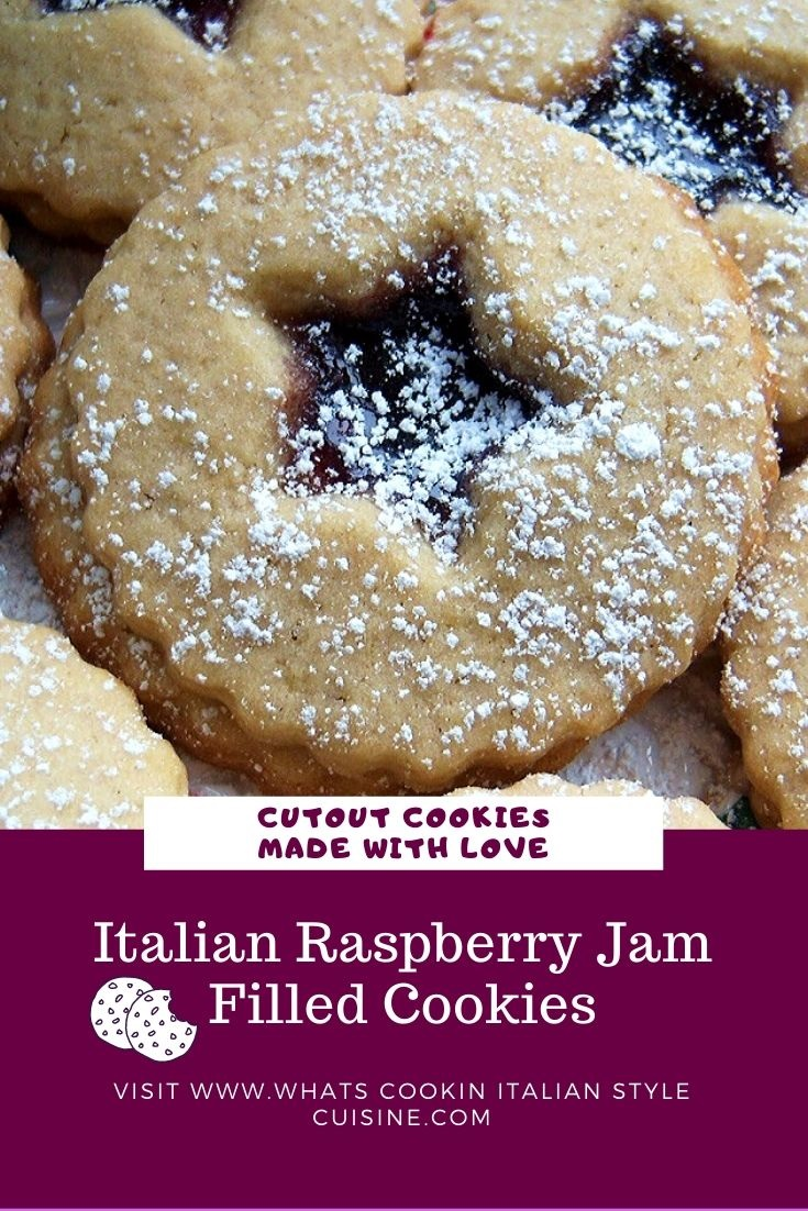 pin for later jam filled linzer cookies