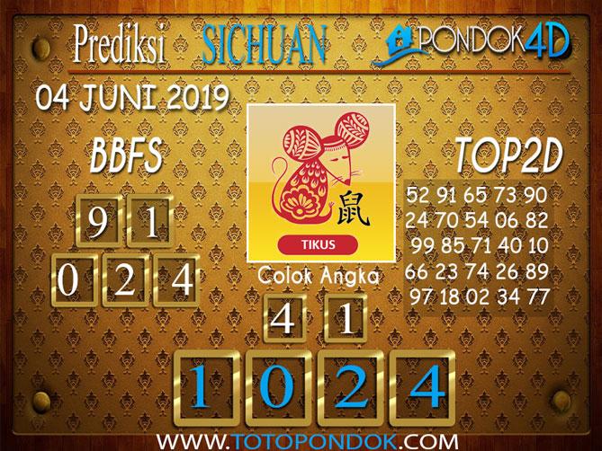 Prediksi Togel SICHUAN PONDOK4D 04 JUNI 2019