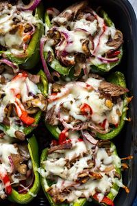 PHILLY CHEESESTEAK STUFFED PEPPERS #philly #cheesesteak #stuffed #peppers #tasty #tastyrecipes #deliciousrecipes #deliciousfood