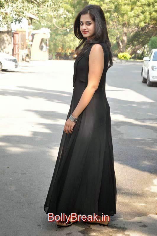 Nanditha Photoshoot Stills, Nanditha Hot Pics In Black Dress from Movie Krishnamma Kalipindi Iddarini Shooting Spot