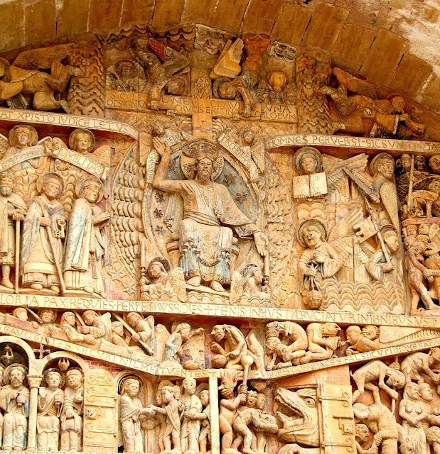 Juízo Final, detalhe. Abadia de Saint-Foy, Conques, França.