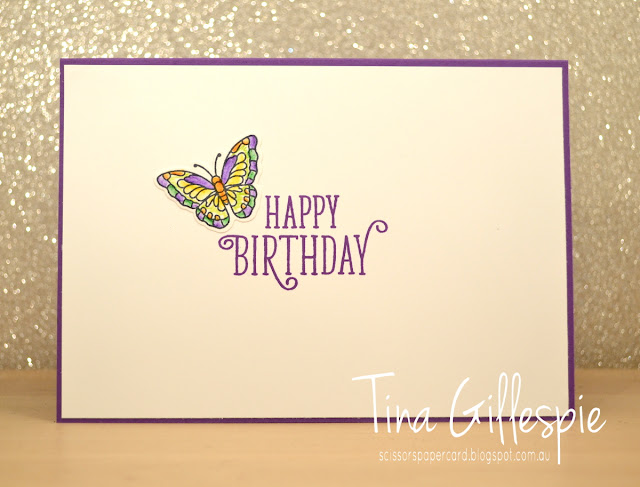 scissorspapercard, Stampin' Up!, Art With Heart, Happy Birthday Gorgeous, Painted Glass, Stained Glass Thinlits, Eclectic Layers Thinlits, Stitched Labels Framelits