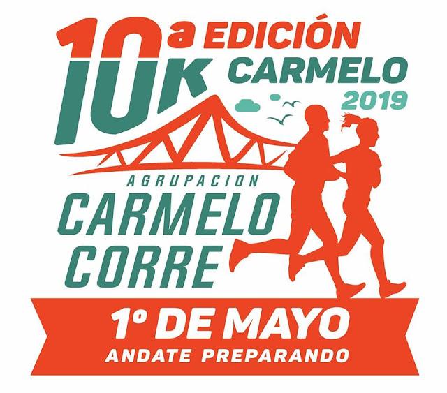 10k Carmelo corre (10a.ed., Carmelo - Colonia, 01/may/2019)