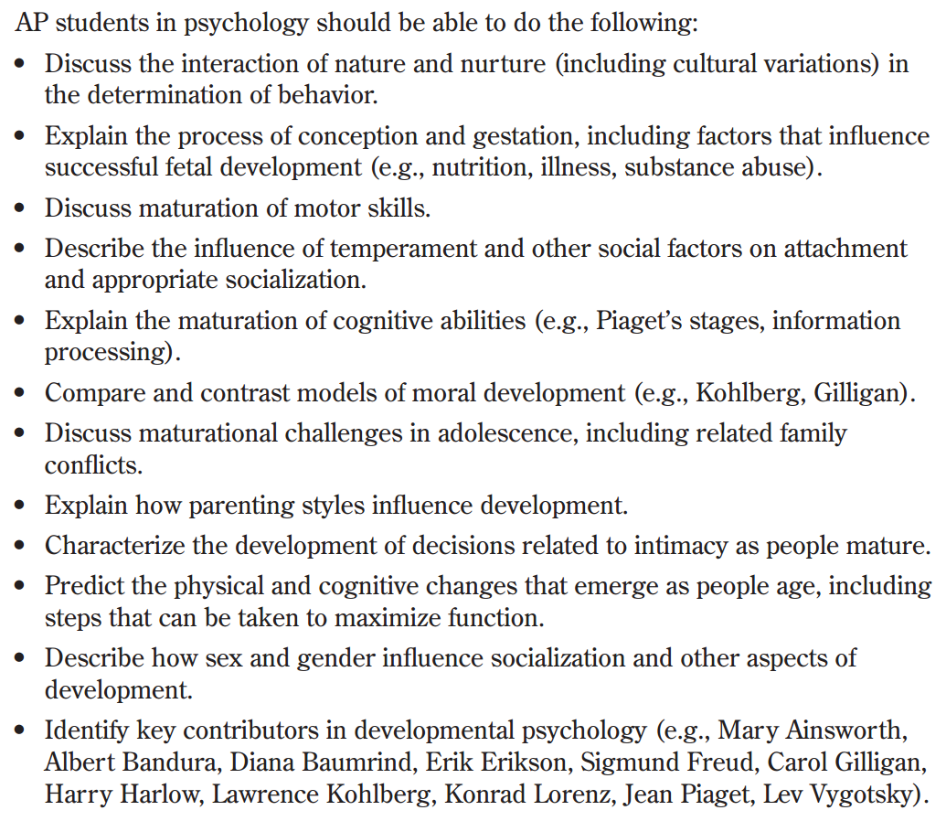lifespan psych ch 11 review Introduction to developmental psychology: lifespan  and learning about lifespan development  within the lifespan selections 101, 111,.