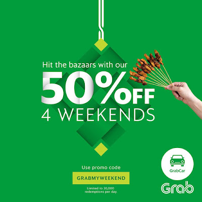 Grab Malaysia 50% OFF Discount Promo Code Weekend