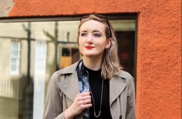 An Image of Ruth MacGilp, a fashion blogger.