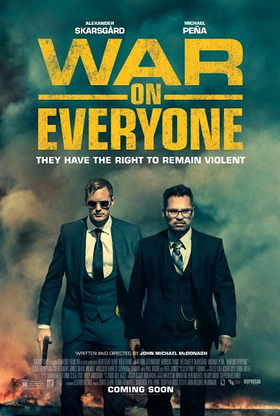 Poster Of War on Everyone 2016 UnRated 720p English BRRip Full Movie Download