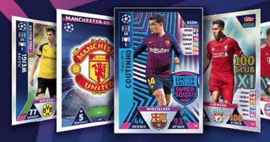 Champions League 2018 19 Pinterest: Football Cartophilic Info Exchange: Topps