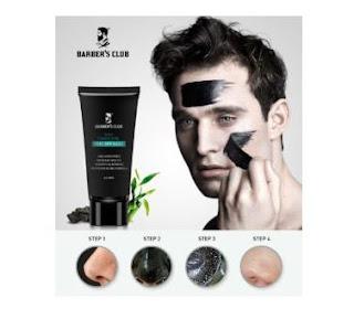 barber's club black charcoal peel off mask