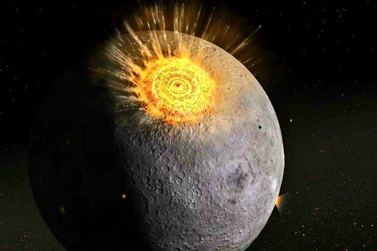 Ay'a çarpacak bir göktaşının onu yörüngesinden kaydırarak uzaya fırlatması tehlikesi de vardır.