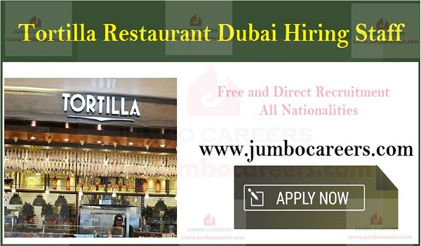 Restaurant jobs in UAE with salary and benefits, Available hotel jobs in Dubai,