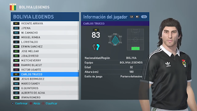 PES 2019 PS4 Classic Option File CONCACAF & CONMEBOL Legends