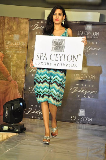 Swetha Jadhav Latest Hot Cleveage Spicy Green Skirt PhotoShoot Images At Spa Ceylon Pre-Launch Fashion Show