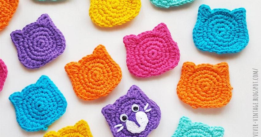 Como tejer fácilmente en crochet un hermoso aplique de gatito! Fácil ...