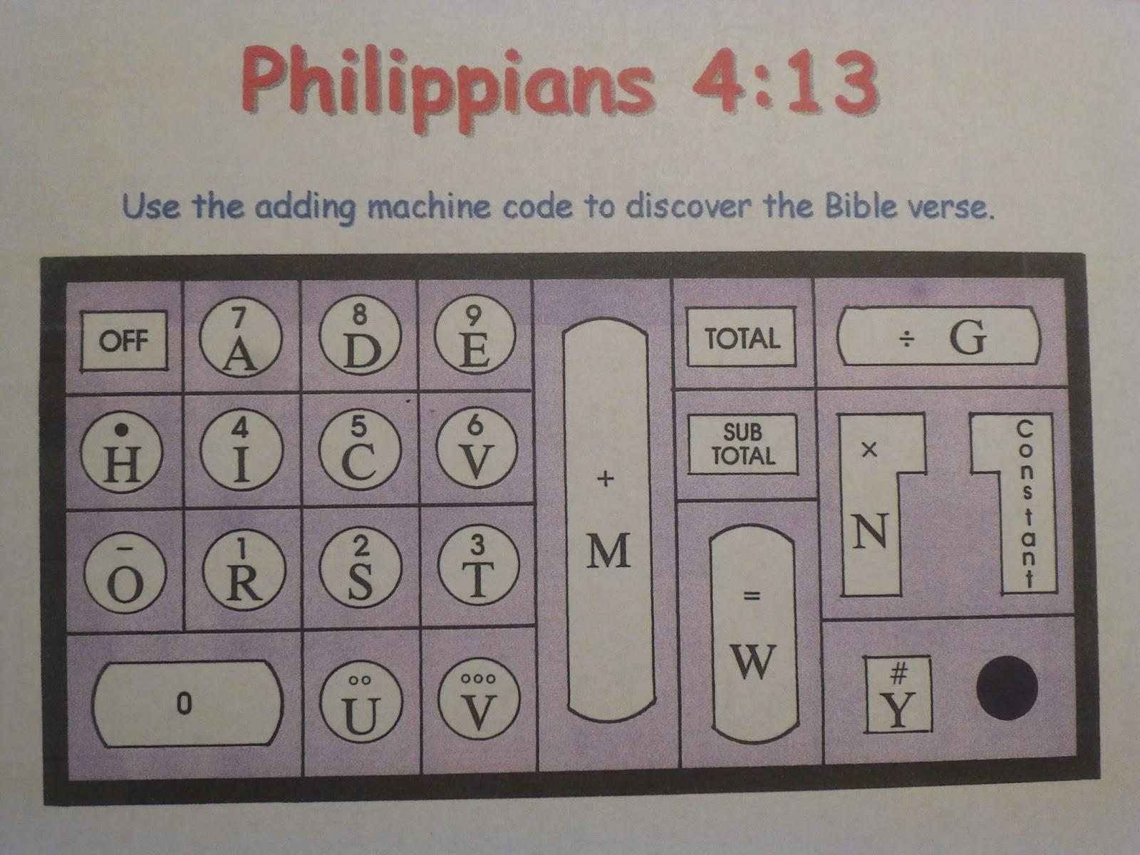 Ideas Unlimited Philippians 4 13 Puzzle