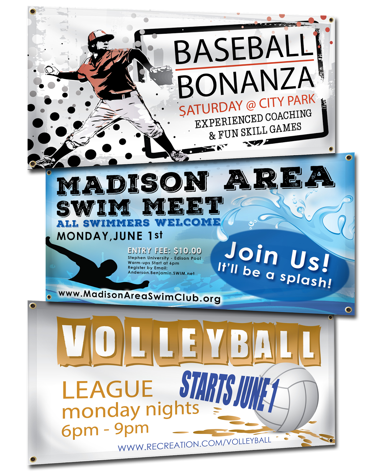 banners com summer sports banners