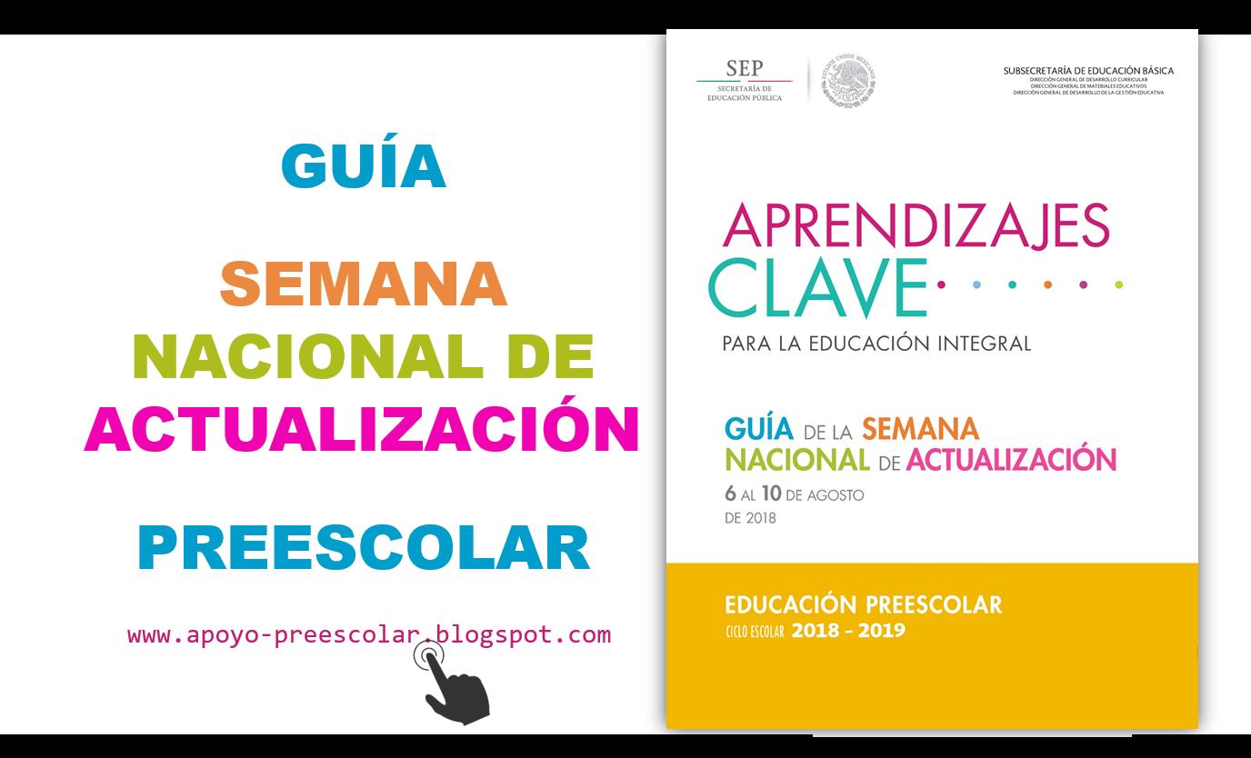 Guía de la Semana Nacional de Actualización para Preescolar