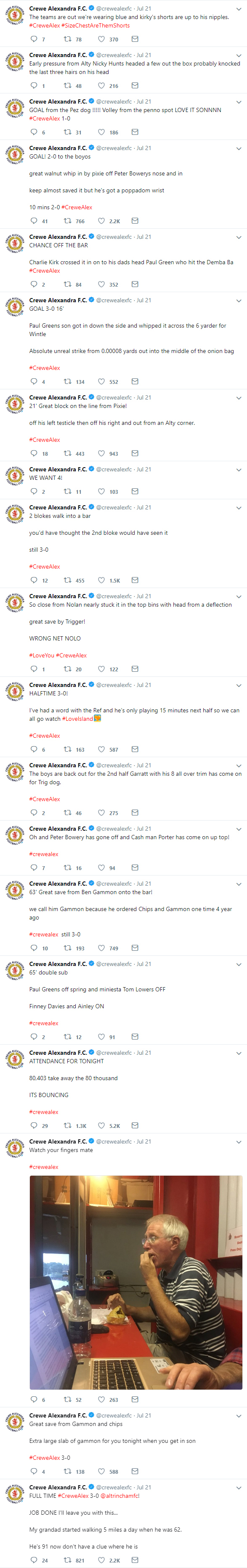 Crewe Alexandra player George Ray tweets some absolutely brilliant content