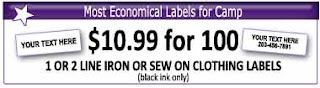 Most economical camp labels
