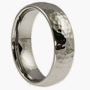 The 5mm Polished Hammered Ring Is Perfect Width For Women Wanting A Complimenting Back To Their Husband