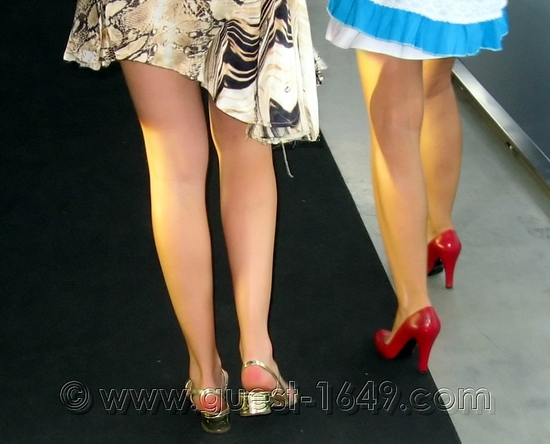 Red And Silver High Heels Shoes