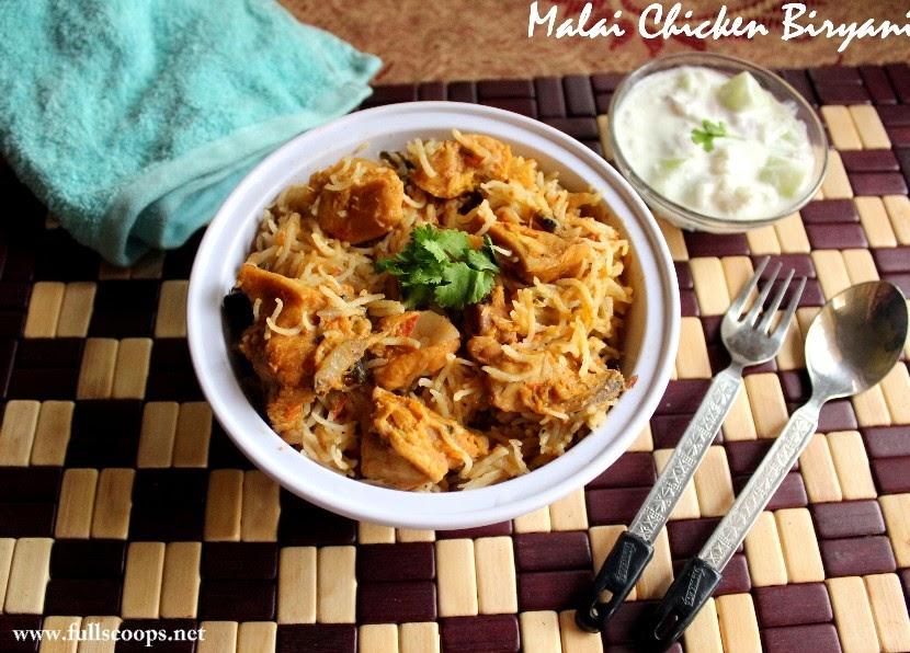 Malai Chicken Biryani