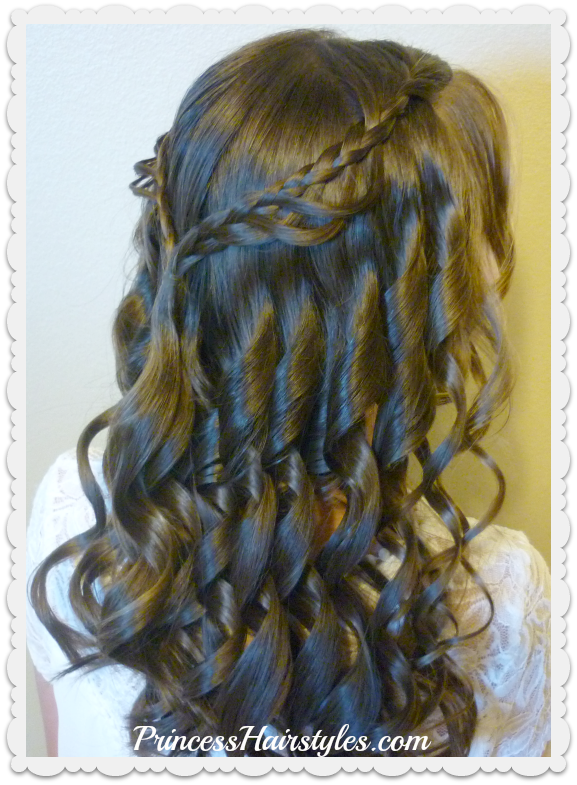 14th Grade Dance Hairstyle Tutorial and Dress! Princess Hairstyles ...