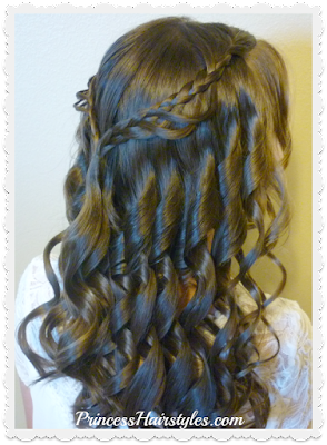 Gorgeous braided crown half up hairstyle tutorial.