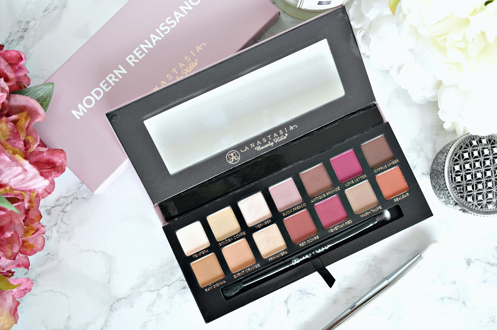 Anastasia beverly hills, modern renaissance palette, review, swatches