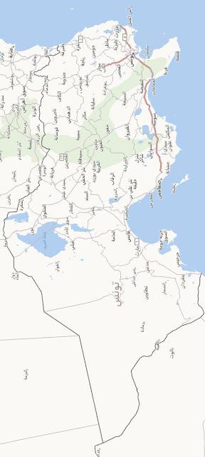 خريطة تونس Tunisia Map