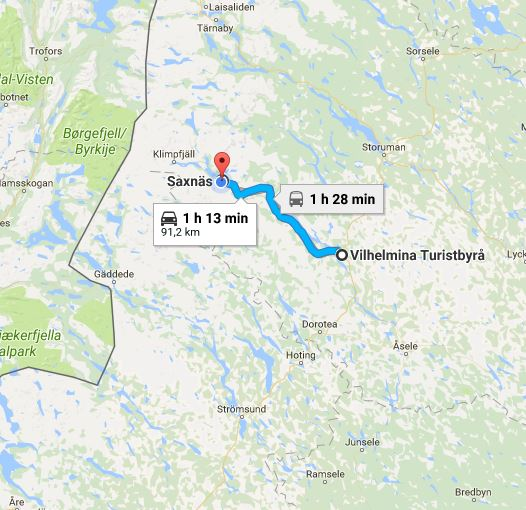 vildmarksvägen karta Lars Gunnar & Tereza Nyqvist: 170808 Vildmarksvägen #16   Husbil #24 vildmarksvägen karta