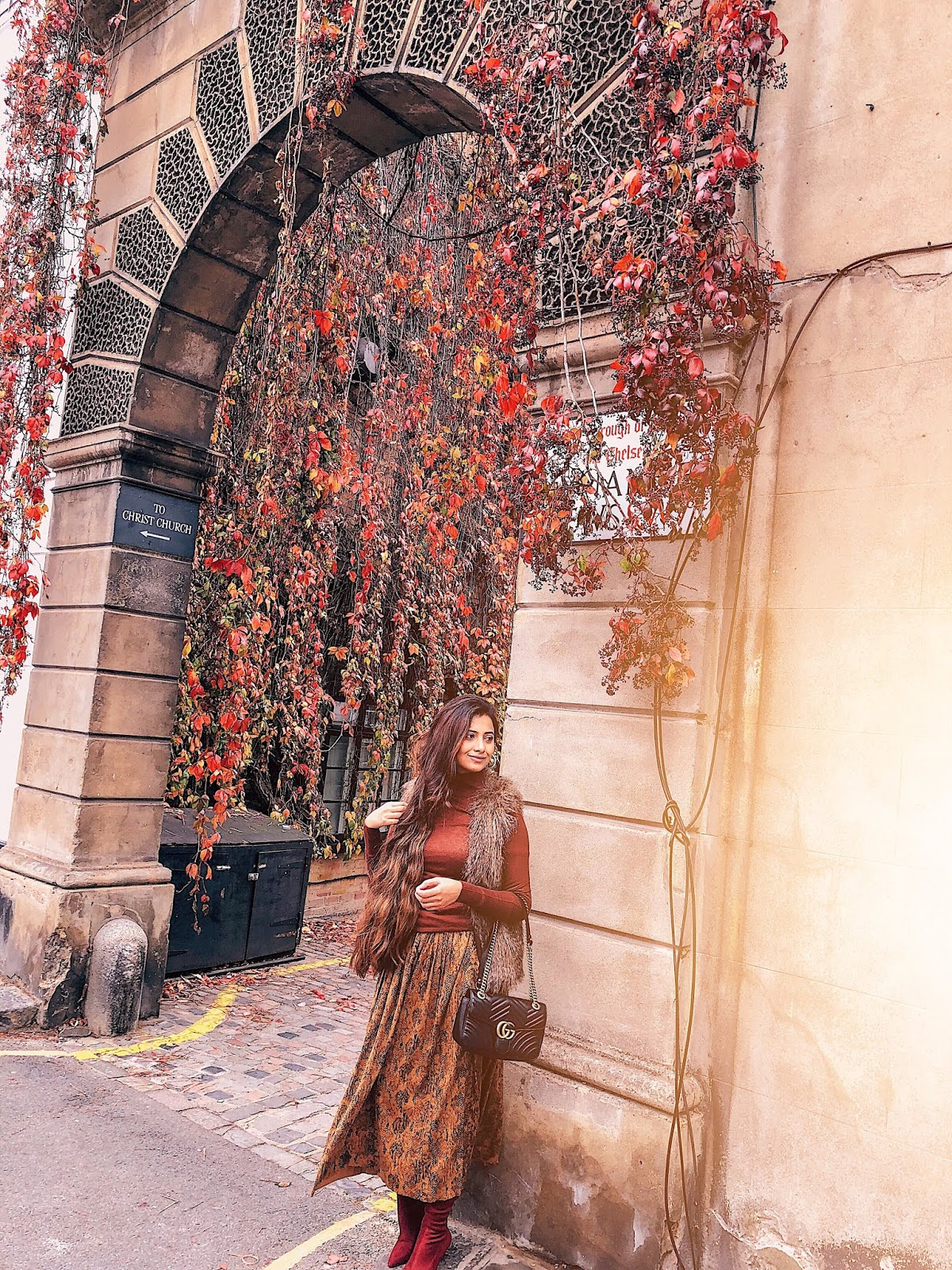 london instagram spot, autumn in london, indian blogger, london blog, kynance mews autumn, kynance mews