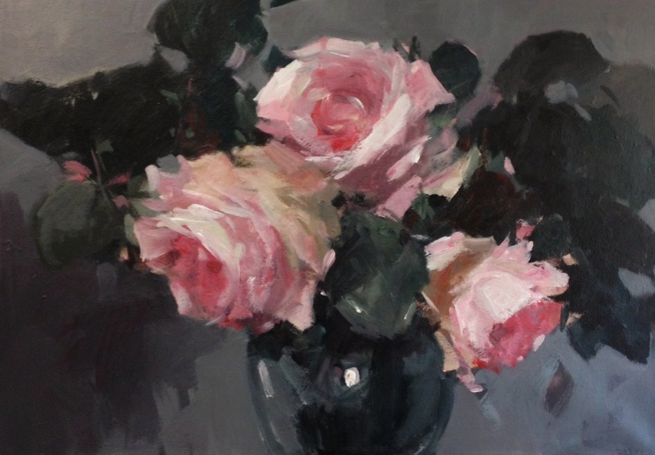 My new paintings pink roses in a vase pink roses in a vase mightylinksfo