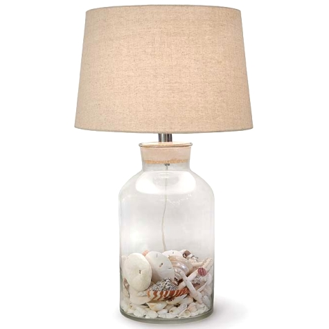 Fillable Glass Table Lamps Beach Shell Jar Lamps Amp More