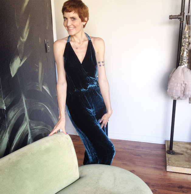 Free people velvet jumpsuit for RENT @studiofitzroy in Toronto