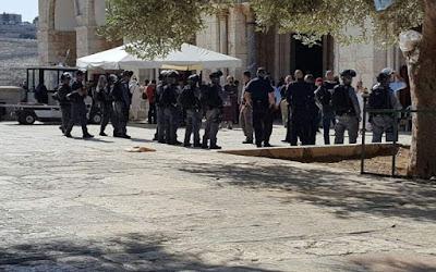 Begini Situasi Bentrok di Masjid Al-Aqsha
