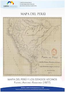 Mapa del Perú y los Estados Vecinos