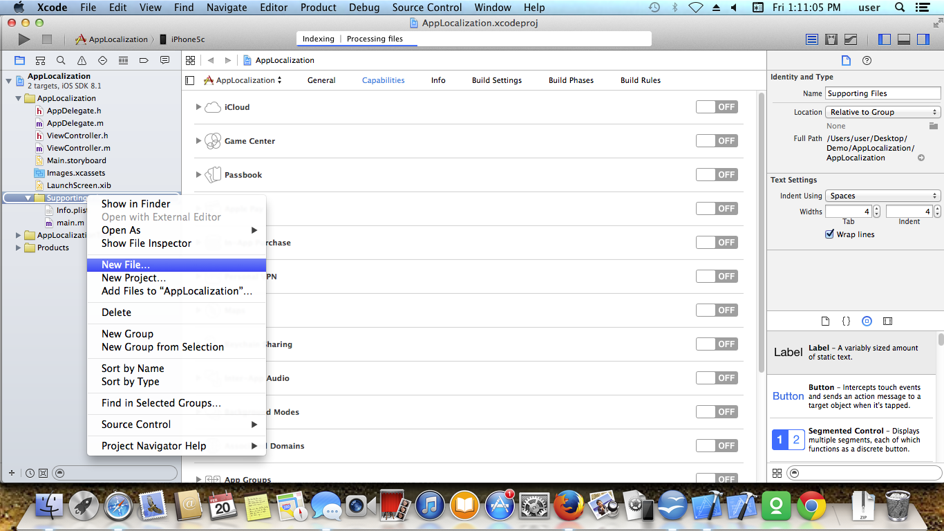 IOS APP LOCALIZATION Screen 1
