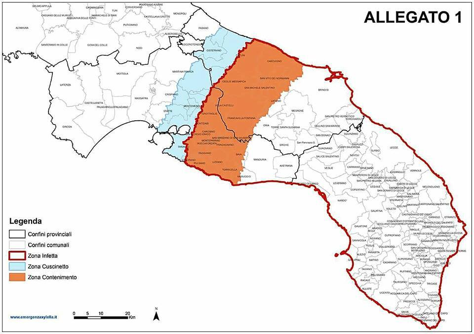 POnTE Project Apulia Region Approves New EU Map of Xylella